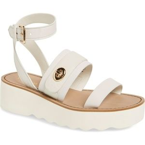 Coach Shoes - COACH Platt Leather Flatform Sandals Platform